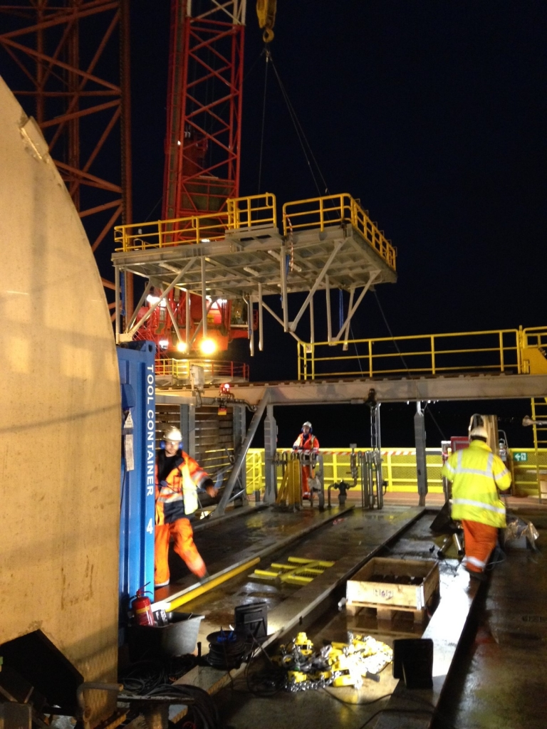 Picture of offshore services installation